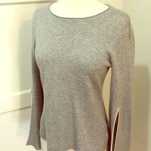 Slit-sleeve sweatshirt top by Bailey 44